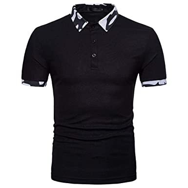 Doublehero Polo Camisa Hombre Impreso Camisa Traje Slim Fit ...