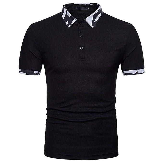 Doublehero Polo Camisa Hombre Impreso Camisa Slim Fit ...