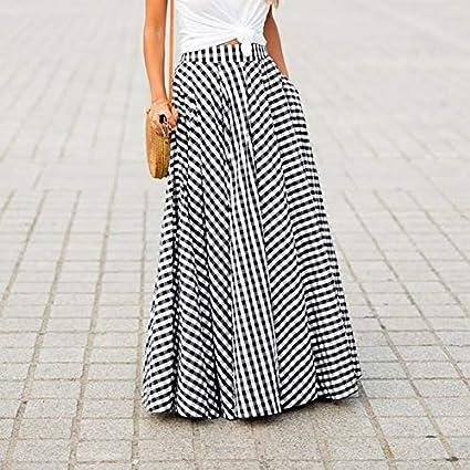 ZYSDHZ Falda A Cuadros Vestido De Mujer Plaid Long Zip Falda ...