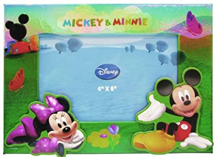 Amazoncom Disney Mickey And Minnie On Hill Pressed Paper Photo