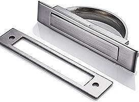 Imango Tatami pomos muebles puerta oculta empotrable tirador para puerta corredera para armario oculta Asa corrediza: Amazon.es: Bricolaje y herramientas