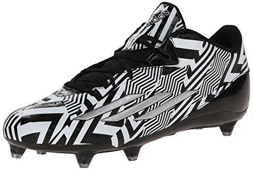 adidas Performance Men's Filthyspeed Low D Football Cleat, Black/White/Silver Metallic, 7.5 M US