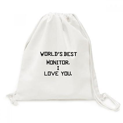 DIYthinker World Travel Mejor Monitor Te Amo Lona morral del ...