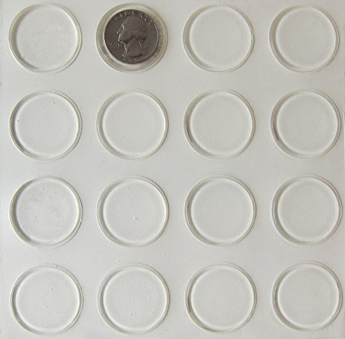 Rubber Feet Adhesive Rubber Pads, 1.23 Inch Diameter Round Self Stick Bumpers, Thin Clear Bumper Pads plus Alcohol Prep Pad - 96 Pack by Picture Hang Solutions (Image #8)