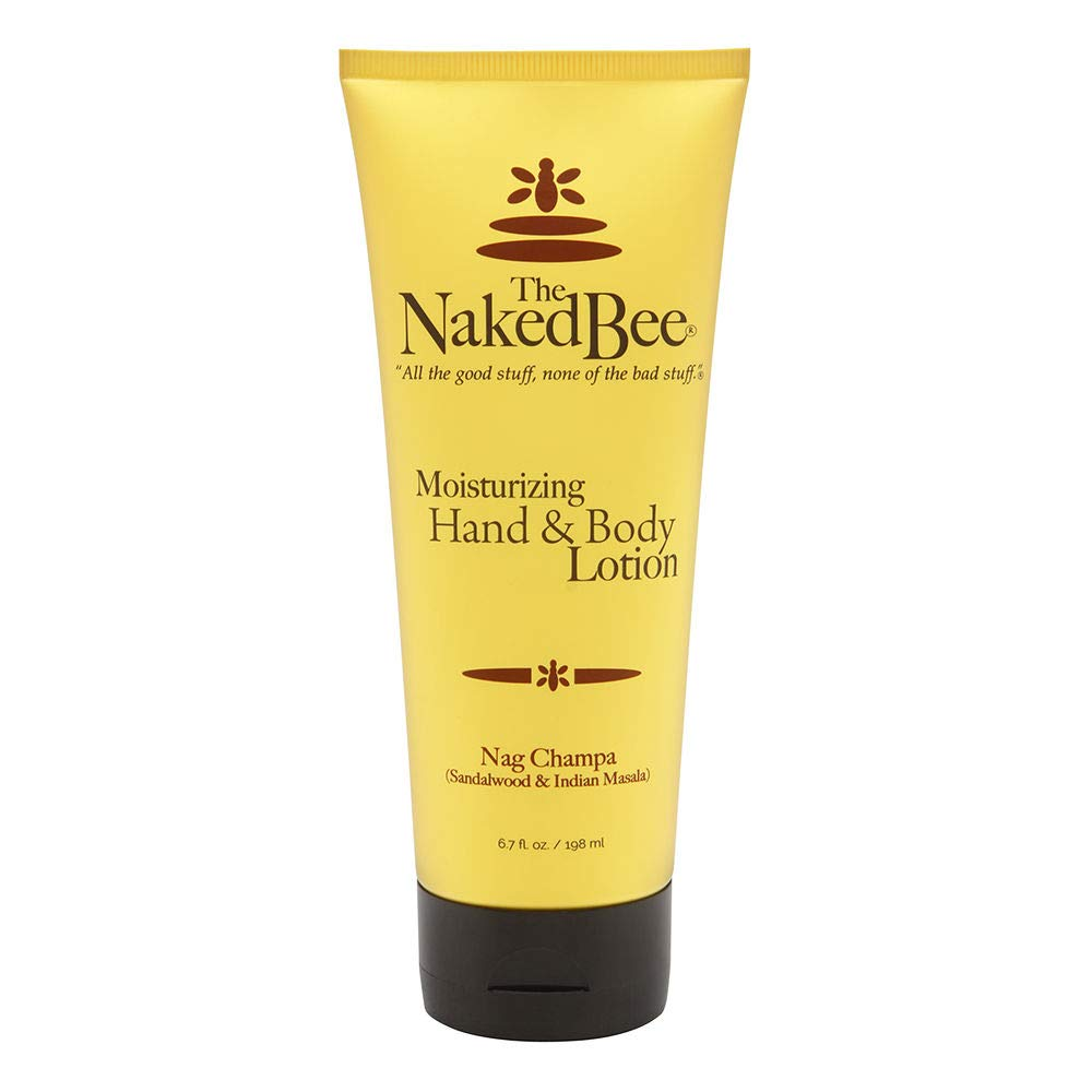 The Naked Bee Moisturizing Hand & Body Lotion, 6.7 Ounce, Nag Champa Sandalwood & Indian Massala