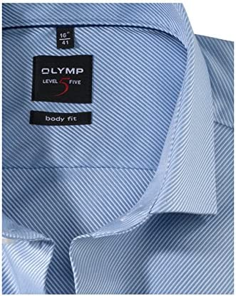 OLYMP Level Five Body Fit Hemd Extra Langer Arm Streifen Hellblau