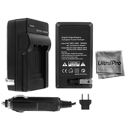 UltraPro Canon PowerShot G1, G2, G3, G5 and G6 Digital Camera Battery Charger (110/220v with Auto & EU adapters) - UltraPro Replacement Charger for Canon BP-511 / BP-511A Battery