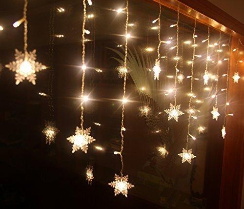 Bloomwin- 2m x 1m 104leds LED Lichterkette Warmweiß Lichtnetz für Weinachten, Hochzeit, Restaurants, Feste
