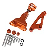 XX eCommerce Motorcycle Motorbike CNC Aluminium Steering Stabilizer Damper Mounting Bracket Holder For 2013-2016 KTM Duke 125 200 390 2014 2015 13-16 (Orange)