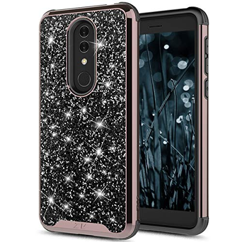 Fit Alcatel Onyx Case Shine Bright Like a Diamond Bling Phone Cover with Genuine Crystal Rock (Black)