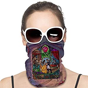 Beauty And The Bea-st Mask & Shield Face Mask Shield Protective For Men & Women Fashion Variety Head Scarf Balaclava For…
