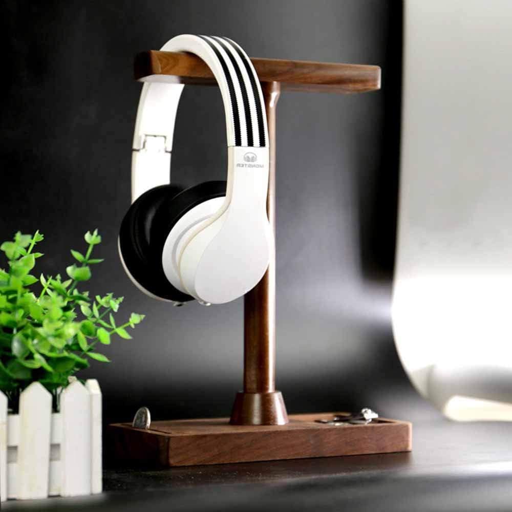 Kopfh/örerst/änder Headset Halter Kopfh/örer Displayst/änder aus Walnussholz aus Holz Fortschrittlicher Kopfh/örerst/änder aus massivem Holz zum Alle Headset