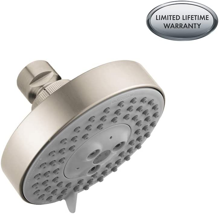 Hansgrohe 04340820 Raindance S 100 AIR Green 3-Jet Showerhead, Brushed Nickel