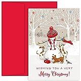 JAM Paper Christmas Card Sets - Snowman Review and Comparison