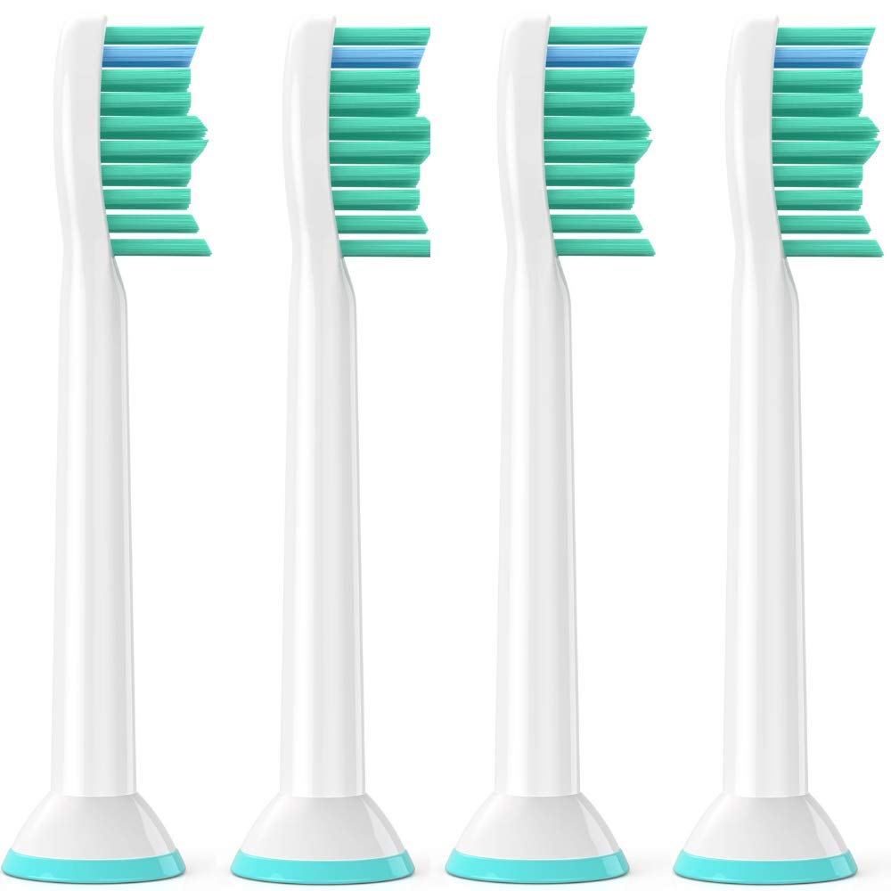 DSRG 4 pcs. Philips Sonicare ProResults Compatible Toothbrush Heads Diamond Clean, FlexCare+, FlexCare Healthy White and Easy Clean models (4)