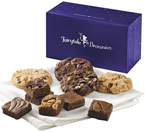 Fairytale Brownies Treasure Cookie & Magic Morsel Combo Gourmet Food Gift Basket Chocolate Box - 1.5 Inch x 1.5 Inch Bite-Size Brownies and 3.25 Inch Cookies - 10 Pieces