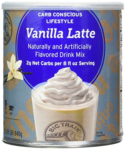 Big Train Low Carb Blended Ice Vanilla Latte Mix, 1.85 lb Can