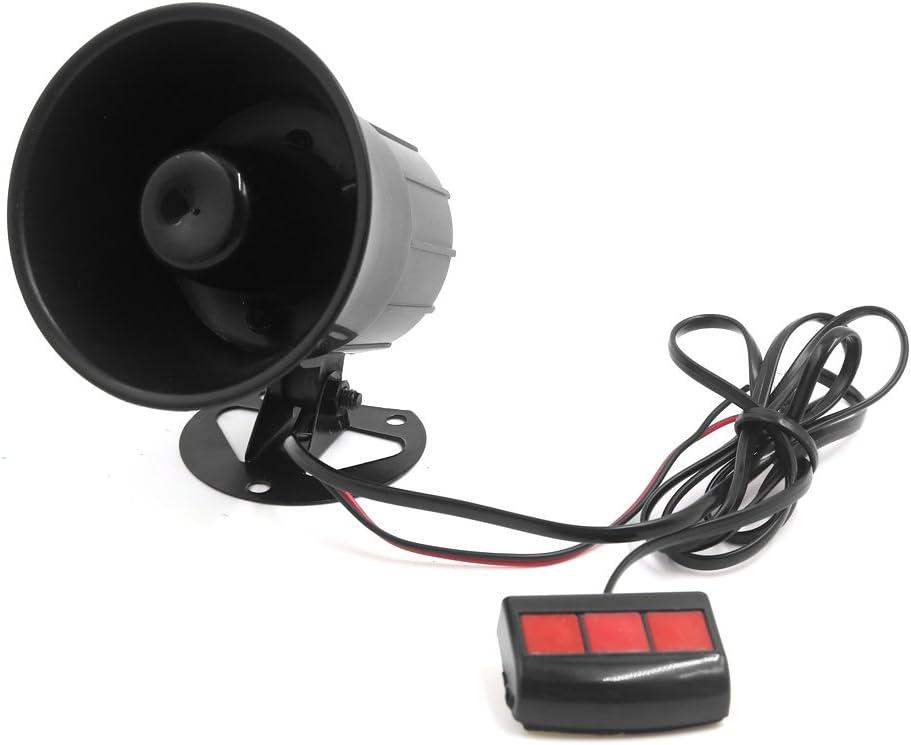 uxcell 12V 15W Car 3 Tone Air Horn Loudspeaker Annunciator W Remote Control Unit US-SA-AJD-220080