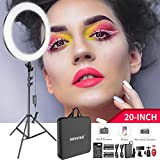 Neewer 20-inch LED Ring Light Kit: (1)44W Dimmable Bi-color Circle Light (1)2M Pro Light Stand(1)Ball Head(1)Phone Holder(2)Li-ion Battery(1)USB Charger for Portrait Photography Video Make-up Selfie