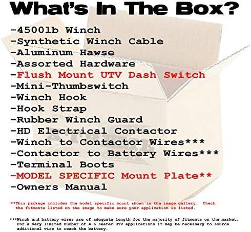 XTREME Winch 4500LB UTV Winch With Model Specifc Mount Fits YAMAHA Rhino 03-13 450 660 700