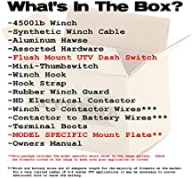 Amazon.com: XTREME Winch 4500LB UTV Winch With Model Specifc Mount on polaris ranger front winch, cheap polaris ranger xp winch, pure polaris winch,