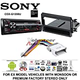 Volunteer Audio Sony CDX-G1200U Double Din Radio Install Kit with CD Player, USB/AUX Fits 2003-2006 Kia Sorento EX (With Premium or Monsoon Sound Only)