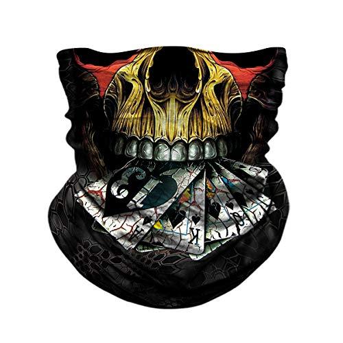 - Skull Face Mask, BonneChance Neck Gaiter 3D Tube Mask Magic Scarf Headwear Headband Balaclava Wrist Band Sun Dust Wind Protection Seamless Bandana Half Face Mask Skeleton Motorcycle Fishing Hunting