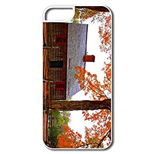 IPhone 5/5S Cases, Autumn Cottage White Cover For IPhone 5 5S