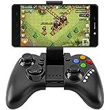 CIC Controle Bluetooth para Games Joystick Sem Fio para Android TV box PC PS iPega PG-9021, Preto