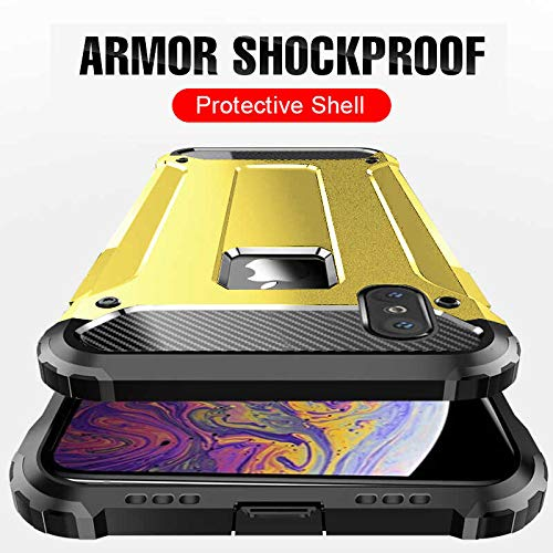 iPhone XS Max Case, ANCO Military Drop Tested Full-Body Rugged Holster [Kickstand] Shock Reduction Protective Cover for iPhone XS Max 6.5 in 2018 Release, Unicorn Beetle Series - Retail Package(Black)