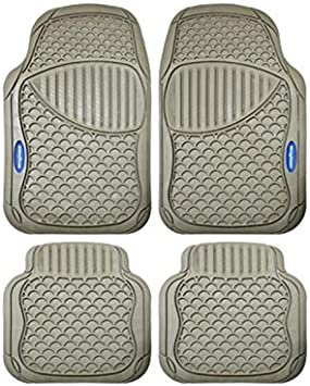 Goodyear Rear Custom Fit Floor Mat for Select Ford F-150 Models Goodyear Floor Protection 220008 Grey