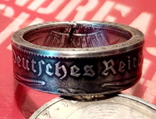 Coinring Münzring Ring Aus Münze 5 Mark Deutsches Reich 1934