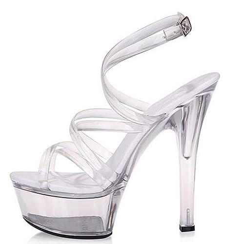Mujer Correas Zapatos Llp Plataforma Sandalias De Impermeables EZRcRq