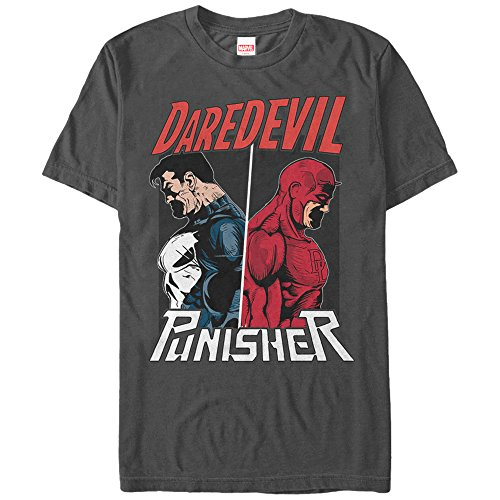 Marvel Men's The Punisher vs. Daredevil T-Shirt