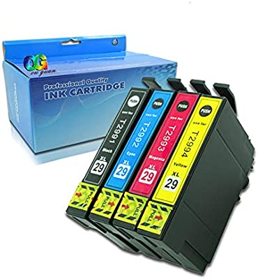 Ouguan - Pack de 4 impresoras Epson 29XL 29 para Epson Expression ...