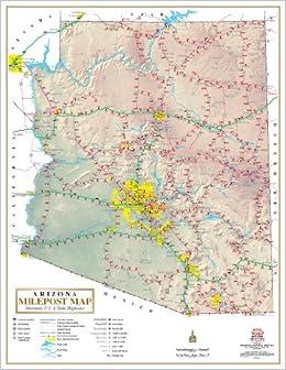 Arizona Milepost Map Interstate US State Highways Phoenix