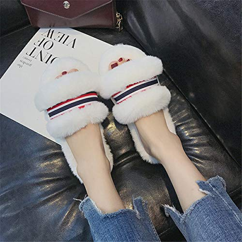 En Zapatillas Lhxyx Gray Algodón Mujer Invierno De Lana Para Interiores Casa qwnYOn7xT