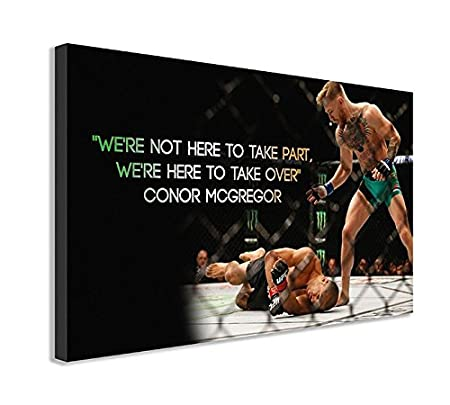 72c04a7fb Connor McGregor UFC Champion Quote Canvas Wall Art (44