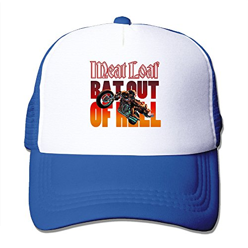[Baboy Meat Loaf Band Men's Trucker Hat Sports UV Protect RoyalBlue Size One Size] (Tv Commercial Costumes Halloween)