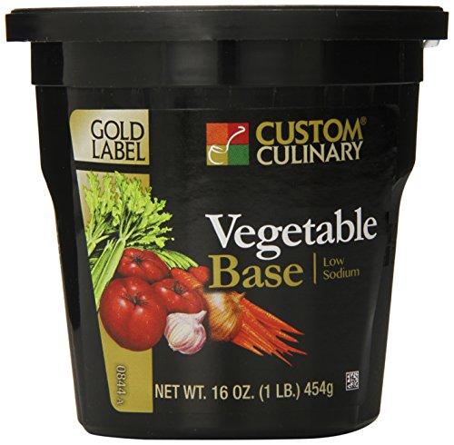 - Custom Culinary Gold Label Low Sodium Base, Vegetable, 1 Pound