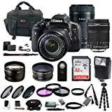Canon EOS Rebel T6i DSLR with 18-135mm & 55-250mm Lens and 32GB SDHC Accessory Bundle