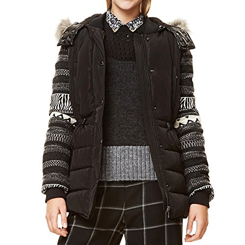 Negro 42 Readable Desigual Abrigo Para Mujer In Zvqaxbwx Hw1Rq5B