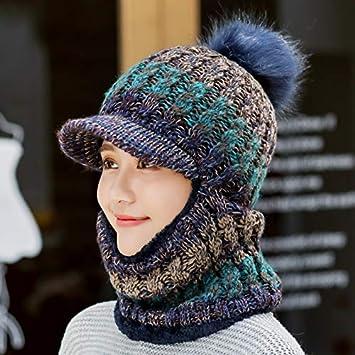 MAOCAP Sombrero Mujer Invierno Salvaje Dulce Lindo más Terciopelo Orejeras  Sombrero Caliente Ciclismo Invierno Sombrero una Gorra de Punto 35bfd70a8b3
