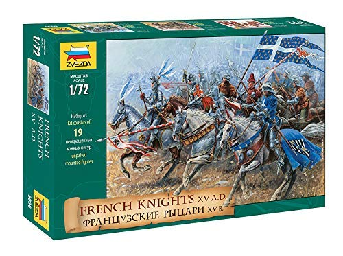 Zvezda 8036 - French Knights XV A.D. - Plastic Model Soldiers Kit Scale 1/72 1