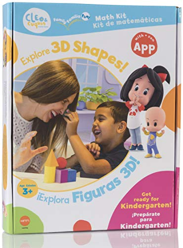 Cleo & Cuquin Family Fun! 3D Shapes Math Kit and App: Spanish/English Education, Ages 3-5, Kindergarten Readiness (Use Of Mobile Devices In Higher Education)