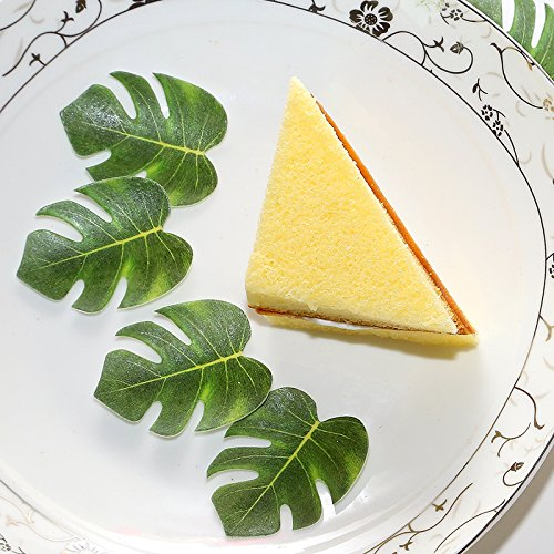 Astra Gourmet 72pcs Edible Palm Leaves Cupcake toppers for Party Cake Summer Decoration by Astra Gourmet (Image #2)