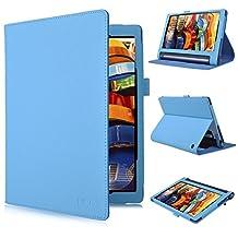 Lenovo YOGA Tab 3 10.1-Inch Flip Case – IVSO Slim Folio Book Case Cover for Lenovo YOGA Tab 3 10.1-Inch Tablet - with Card Holder, Hand Strap