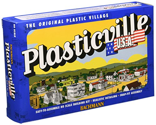 - Bachmann Industries Plasticville U.S.A. Kit - Ranch House (HO Scale), Cream & Brown