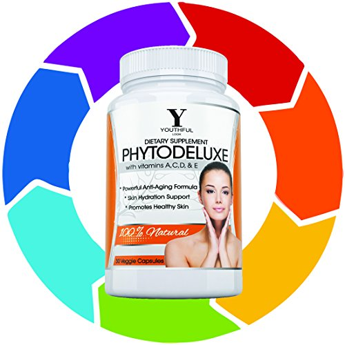 Youthful Look Phytoceramides - Drop a Decade From Your Face - 350 mg Plant Derived Pills - 30 - Look Models Nu