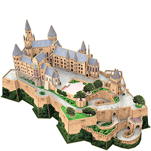 (CubicFun 3D Germany Puzzles Castle Architecture Building Model Kits Toys for Adults, Hohenzollern, 185pieces)